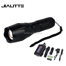 Jialitte F079 T6 Dimming LED Hunting Rechargeable Led Torch Flashlight +1x18650 Rechargeable Battery Car Charger