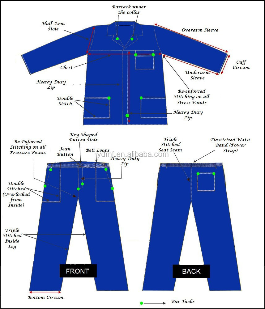 workwear uniforms pants+shirt safety clothing high quality