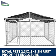 Outdoor large galvanized heavy-duty dog kennel wholesale