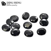 China Supplier Wholesale Prices Fashion Round Cut Natural Raw Black Sapphire