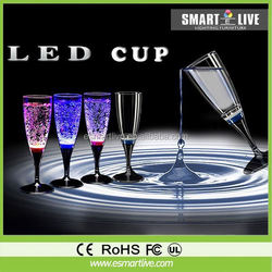 Factory sale Romantic battery powered liquid active Glass LED