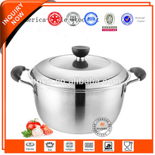 High quality cheap custom stainless steel commercial cookware soup pot