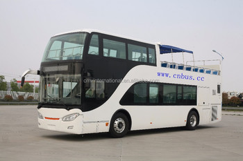 China half closed top Double decker junket bus for Dubai