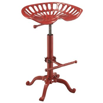 Adjustable Metal Stool Farmhouse Tractor Seat Bar Stool