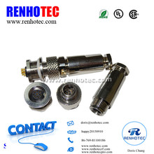 Waterproof IP67 M9 M12 Connector 3Pin 4Pin 5Pin 8Pin Circular Metal Shielded Aviation Connector