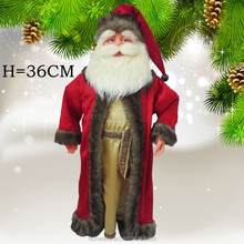 Hot sell animated life size home decoration cloth christmas santa clause for christmas decoration