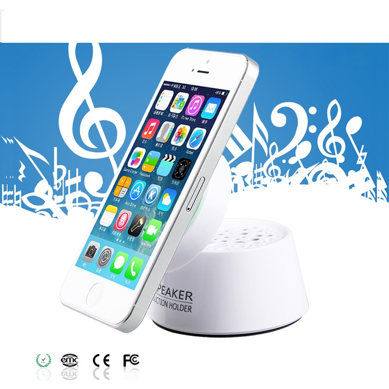 New Arrived Colorful Mini Audio Speaker with Suction Holder