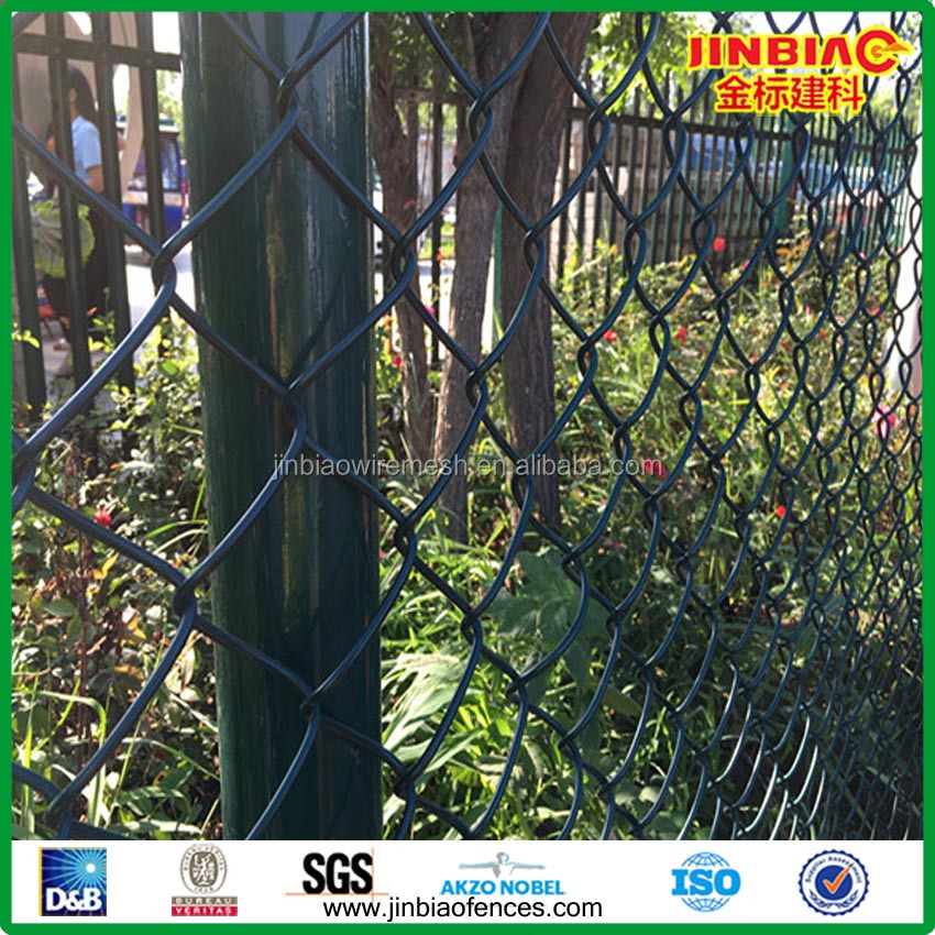 RAL 6005 pvc coated flat edge chain link fence rolls manufacture