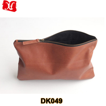 brown genuine leather ladies clutch bag