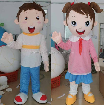 boy and girl mascot costume for adult to wear