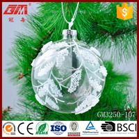 wholeslae christmas hanging glass bauble ball