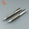 Classical style stainless steel wire braid metal ballpoint pen