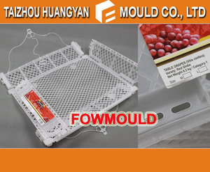 plastic foldable crate for fruit