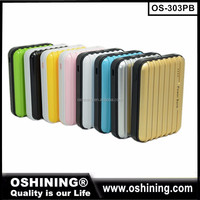 travel suitcase power bank,portable traveling case mobile power bank charger,Dual usb power bank(OS-303PB)