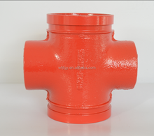 FM&UL Ductile Cast Iron threaded Pipe Fittings cross pipe clamp/ductile iron pipe