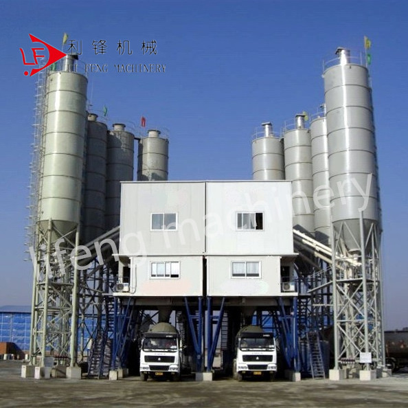 HZS25 mini fixed electric control concrete batching and mixing plant