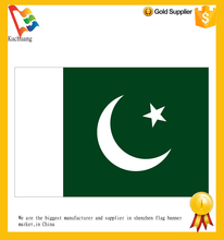 Pakistan national day country flag, factory price worldwide country flags ,wholesale national flags