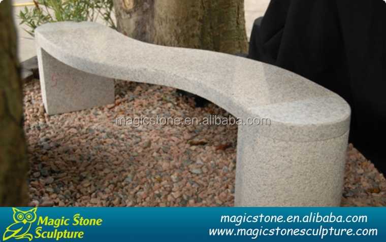 curved park bench