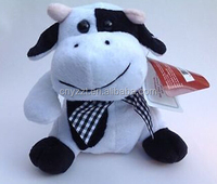 "stuffed toy/free stuffed cow toy pattern/Cow Soft Plush Stuffed Travel Buddy Toy 7"" Sitting Farm Animal 3+ NEW"