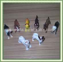 PLASTIC DOG FIGURINE/ Collection dog toys
