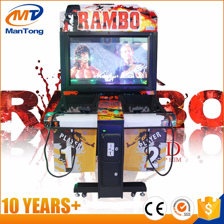 Rambo shooting arcade machine from Mantong manufacturer