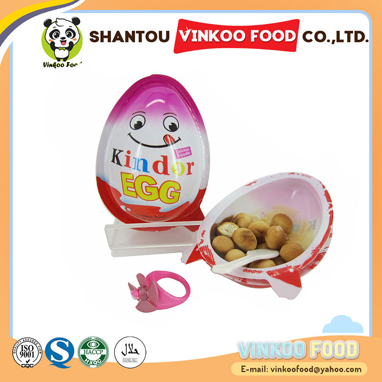 hot sale surprise chocolate egg shaped with toys for girls