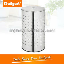 round stainless steel clothing recycling bin(V025007)