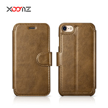 XOOMZ Fashion PU Leather Flip Wallet Phone Case for iPhone 7 7 Plus with Magnetic