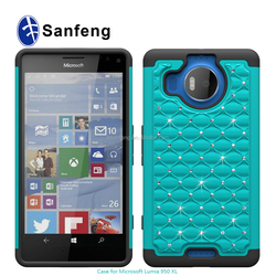 Coating tear rubber oil+silicone smart phone cover for nokia lumia microsoft 950 950xl cellphone case