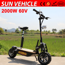 high speed 55km/h 60V motor scooter for adults