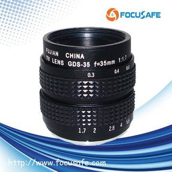 "Fujian C Mount 35mm F1.7 Manual iris 2/3"" Digital Camera Lens"