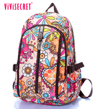 New Style school bag nylon material lightweight women backpack adult school book bag for girls