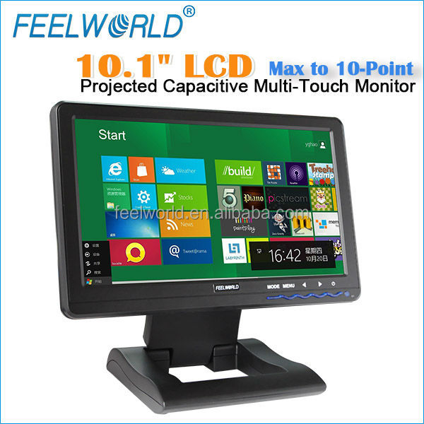 FEELWORLD Projected 10 inch cheap capacitive touch screen monitor