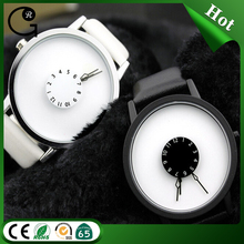 New concepts faceless dial quartz watch waterproof couple watches