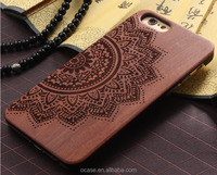 Wood bamboo cell phone case bulk buy from china for iphone 6s case.