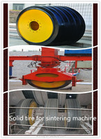 Hot sale best quality neumatico solido camion 14.00-20 solid wheels used on sinter mixter of steel plant