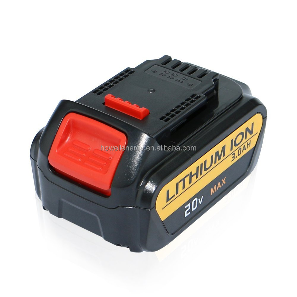 20V Dewalt Power tool Li-ion battery 2.0Ah with 119.60x76.12x51.60mm For DCB203, DCB181 ,DCB180 DCB200 ,DCB201 ,DCB201-2