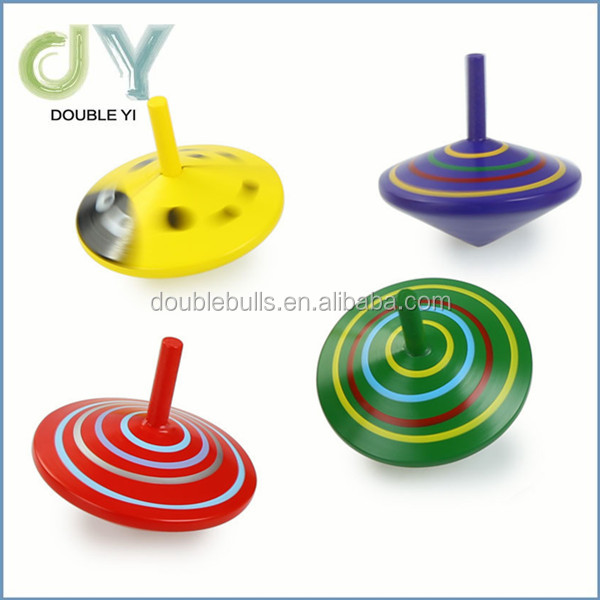Hot selling Handmade Painted Wood Spinning Tops Wooden Toys Vintage India Craft