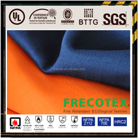 cotton flame retardant twill fabric for coverall industrial workwear protective clothing with EN and UL certificates