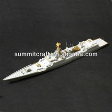 custom resin gold and white 3d model ship