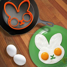 Cute Rabbit Egg Shaper,Silicone Breakfast Pancake Mold Ring Set,Silicone Fried Egg Mold