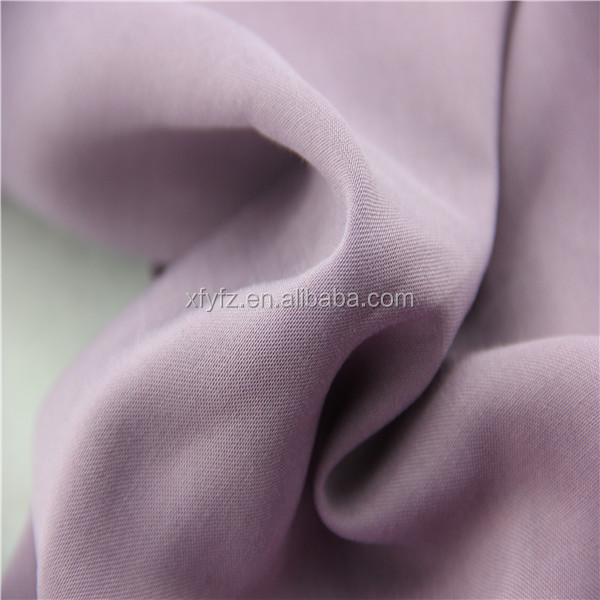 100% rayon plain dyed violet rayon yarn fabrics for dresses