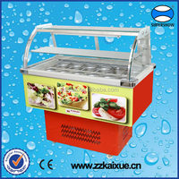 commercial display salad refrigerator showcase