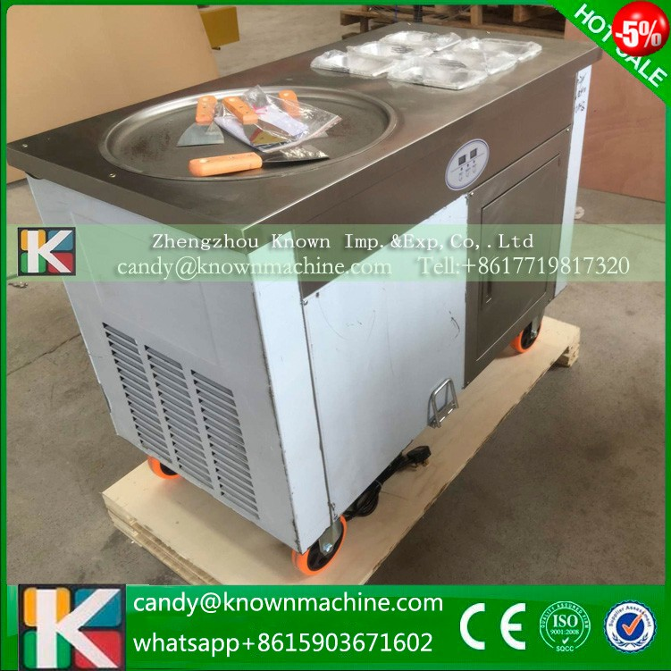 110/220VThailand double round pan fried ice cream roll machine for sale,fy ice cream machine