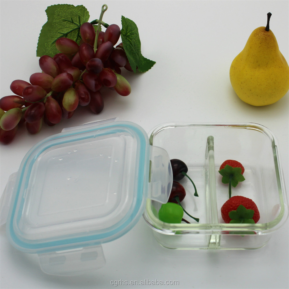 Pyrex Meal Prep Glass Food Storage Container Set with Divider