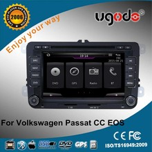 Wince 6.0 system 7 inch 2 din car dvd player VW Passat gps navigation system