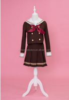 high end custom cotton blending uniform sailor costume style 2-row button girl school costume