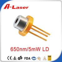 CE SGS FDA EMC 650nm 5mW 25 Temperature Laser Diode
