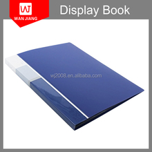 China manufacturer office supplies plastic storage book display book with clear pockets