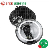 Brightest led sealed beam,40W 7'' round Jeep led sealed beam